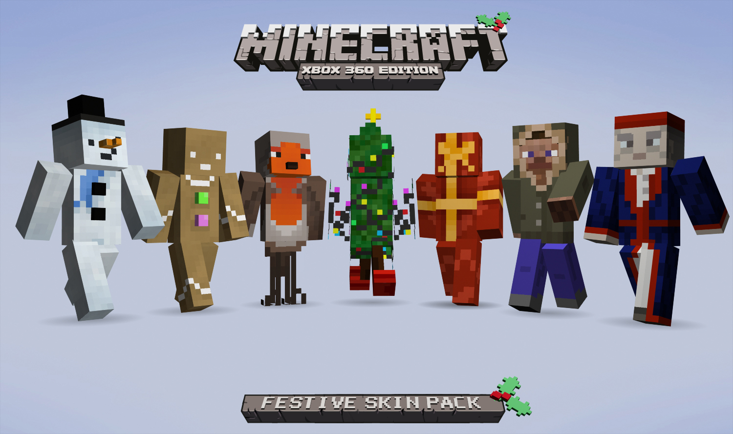 Minecraft Christmas Skins.Minecraft Xbox 360 Edition Festive Skin Pack On Sale