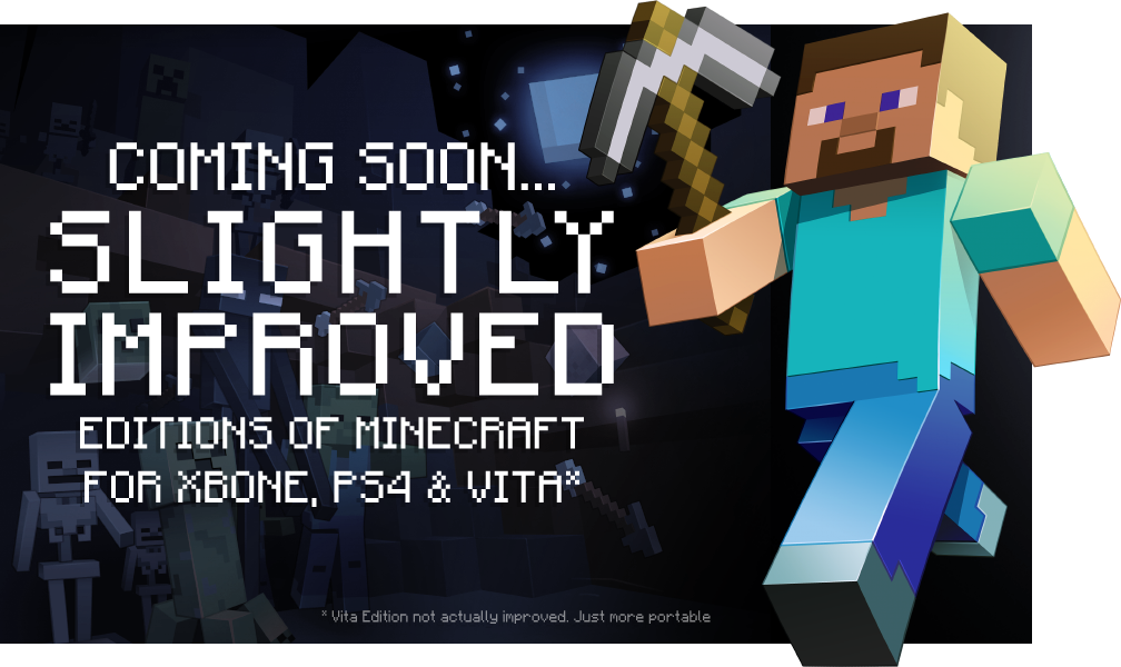 Minecraft On Xbox One PS And PS Vita Soon - Minecraft skins fur die ps3