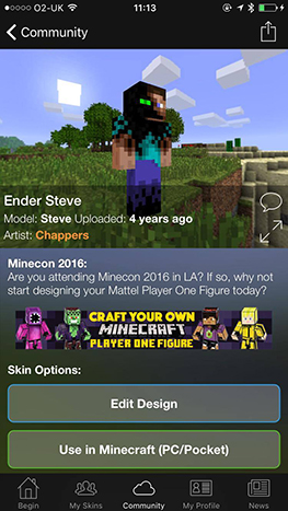 Print Your Skin At MINECON Thanks To Mattel Digital - Skins para minecraft pc 1 11