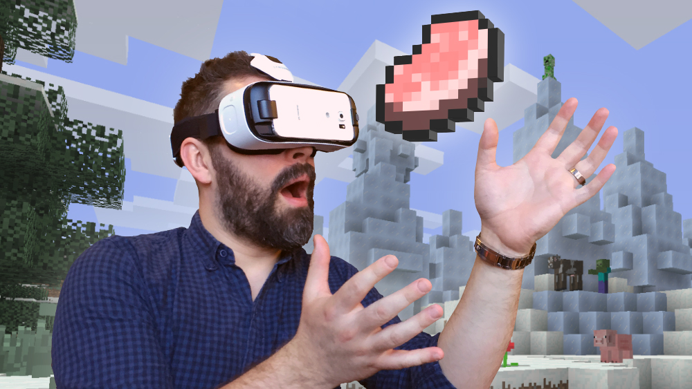 Minecraft Arrives On Gear VR Today - Minecraft headset spielen