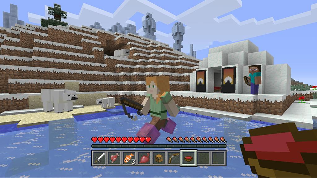 les ours dans la version console de Minecraft
