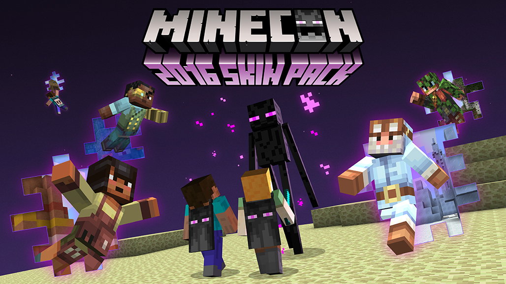 Minecon 2016 skins incoming get em while they re hot Are we going to get snow this year 2016