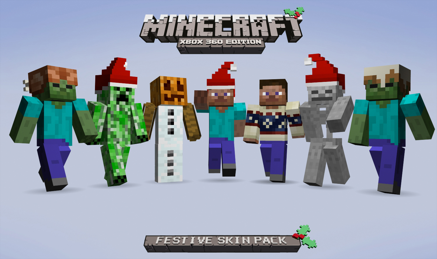 Minecraft Xbox Edition Festive Skin Pack On Sale - Skins minecraft baixar gratis