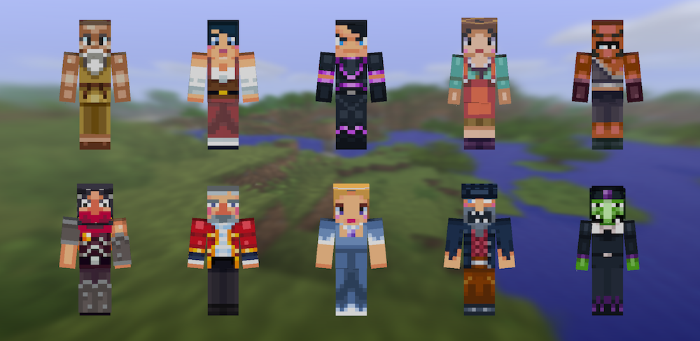Pocket Edition Now Has Skins Chicken Jockeys More - Minecraft skins fur cracked minecraft