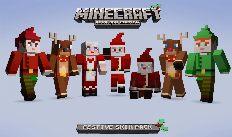Minecraft Xbox Edition Festive Skin Pack On Sale - Skins gratis minecraft xbox 360